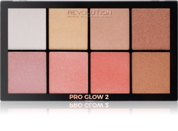 Makeup Revolution Pro Glow 2 Highlighter Palette