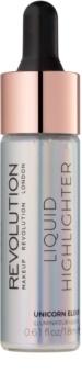 Makeup Revolution Liquid Highlighter tekutý rozjasňovač