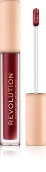 Makeup Revolution Nudes Collection Metallic metaliczna szminka w płynie