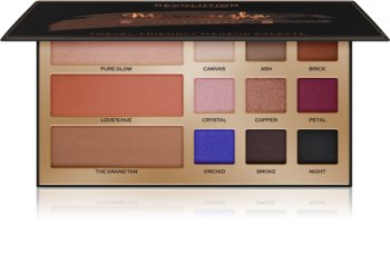 Makeup Revolution Maxineczka Beauty Legacy multifunkciós arc paletta az arcra és a szemekre