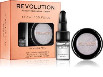 Makeup Revolution Flawless Foils Metallic-Lidschatten mit Primer