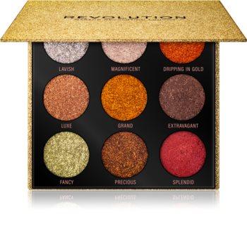 Makeup Revolution Pressed Glitter Palette highlighter paletta