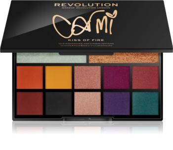 Makeup Revolution Carmi палета със сенки за очи и озарители