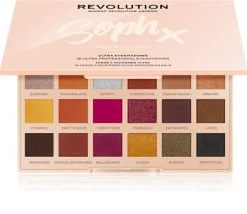 Makeup Revolution Soph X Extra Spice paleta de sombras de ojos con un espejo pequeño