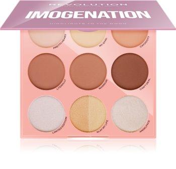 Makeup Revolution Imogenation paleta pentru contur facial