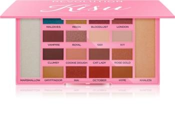 Makeup Revolution X Kisu paleta očních stínů a rozjasňovačů