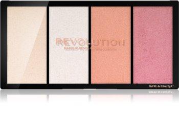 Makeup Revolution Reloaded paleta rozjasňovačov
