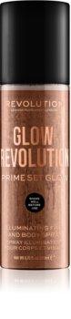 Makeup Revolution Glow Revolution spray iluminador para rosto e corpo