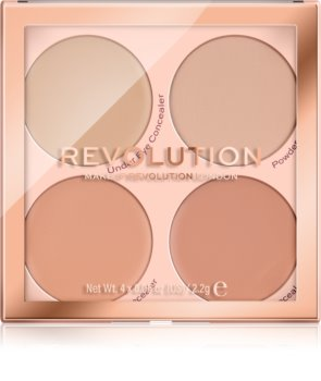 Makeup Revolution Matte Base paleta korektorů