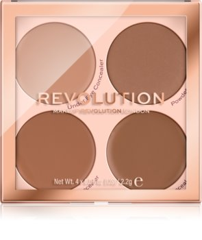 Makeup Revolution Matte Base палитра коректори