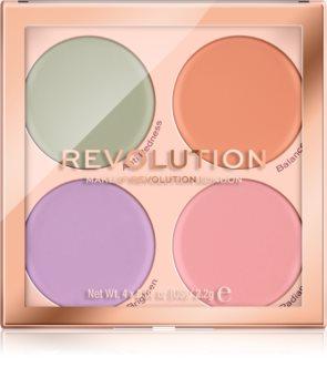 Makeup Revolution Matte Base paleta korektorov proti nedokonalostiam pleti