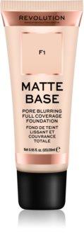 Makeup Revolution Matte Base fond de teint couvrant