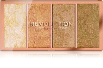 Makeup Revolution Vintage Lace paletka rozjasňovačov