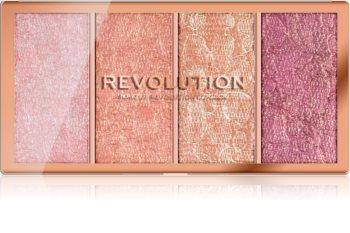 Makeup Revolution Vintage Lace палитра с ружове