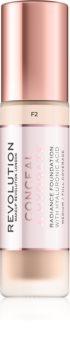 Makeup Revolution Conceal & Hydrate maquillaje hidratante ligera
