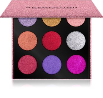 Makeup Revolution Pressed Glitter Palette Palette mit gepresstem Glitter