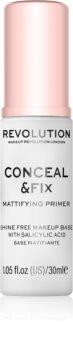 Makeup Revolution Conceal & Fix bază de machiaj matifiantă, sub fondul de ten