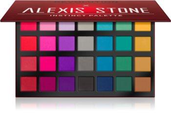 Makeup Revolution X Alexis Stone szemhéjfesték paletta matt hatással