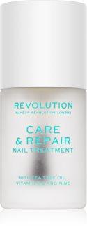Makeup Revolution Care & Repair подхранващ лак за нокти