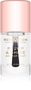 Makeup Revolution Plump & Shine vernis à ongles effet gel transparent