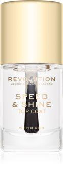 Makeup Revolution Speed & Shine gyorsan száradó körömlakk átlátszó