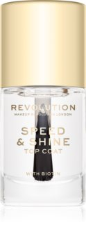 Makeup Revolution Speed & Shine Quick - Drying Nail Polish Translucent