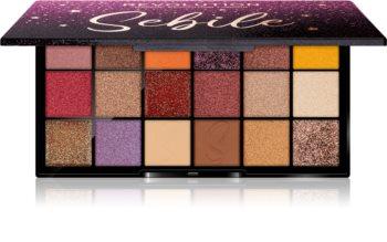 Makeup Revolution X Sebile paletka pudrových očních stínů