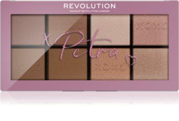 Makeup Revolution X Petra XOXO paletta arcra