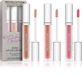 Makeup Revolution X Petra XOXO σετ για τα χείλη