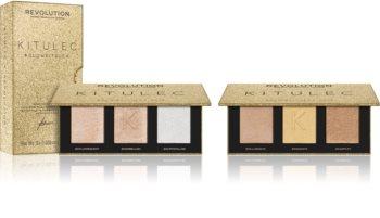 Makeup Revolution X Kitulec Glow Kit комплект декоративна козметика  (за озаряване на лицето)