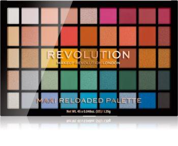Makeup Revolution Maxi Reloaded Palette παλέτα με σκιές ματιών σε πούδρα