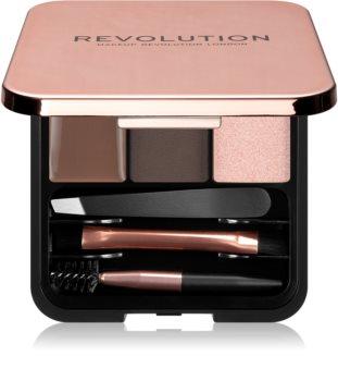 Makeup Revolution Brow Sculpt Kit szett a tökéletes szemöldökért