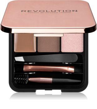 Makeup Revolution Brow Sculpt Kit Set für perfekte Augenbrauen