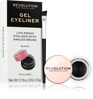 Makeup Revolution Gel Eyeliner Pot gelové oční linky se štětečkem