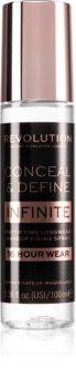 Makeup Revolution Conceal & Define Infinite Foundation Fixierspray mit Matt-Effekt