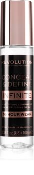 Makeup Revolution Conceal & Define Infinite make-up fixáló spray matt hatással