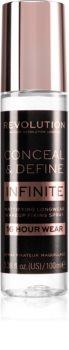 Makeup Revolution Conceal & Define Infinite spray fixateur de maquillage effet mat