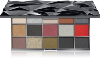 Makeup Revolution Glass Black Ice paleta očních stínů