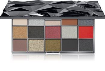 Makeup Revolution Glass Black Ice paleta senčil za oči