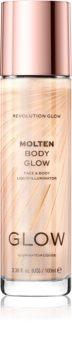 Makeup Revolution Glow Molten течен хайлайтър за лице и тяло