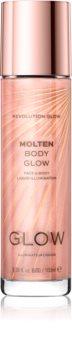 Makeup Revolution Glow Molten iluminator lichid pentru fata si corp