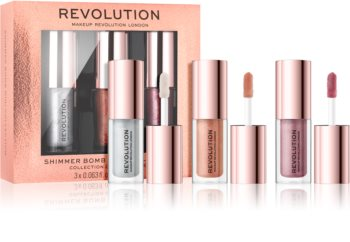Makeup Revolution Shimmer Bomb Set mit Lipglosses