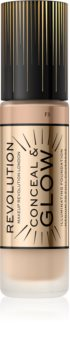 Makeup Revolution Conceal & Glow озаряващ фон дьо тен за естествен вид