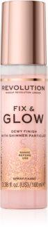 Makeup Revolution Fix & Glow make-up fixáló spray hidratáló hatással