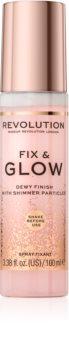Makeup Revolution Fix & Glow Make-up Fixierspray mit feuchtigkeitsspendender Wirkung