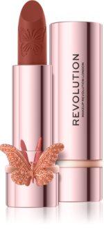 Makeup Revolution Precious Glamour Butterfly jedwabista pomadka z matowym wykończeniem