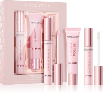 Makeup Revolution Kiss & Care комплект за устни