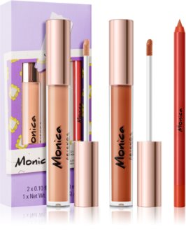 Makeup Revolution X Friends sada na rty Monica odstín