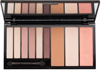 Makeup Revolution Euphoria Bare paleta multifuncional com espelho e aplicador