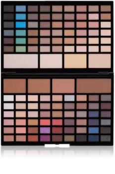 Makeup Revolution Pro HD Eyes & Contour палитра сенки за очи и контуриращи пудри с избелител